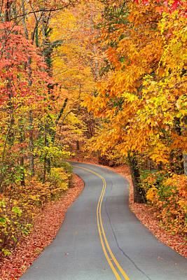 Autumn Drive Signal Mountain Poster