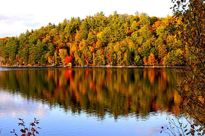 Autumn In Cottage Country Poster