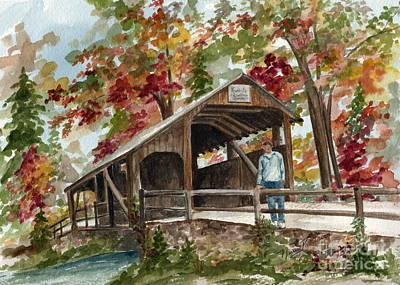 Poster featuring the painting Autumn In Knoebels Grove  by Nancy Patterson
