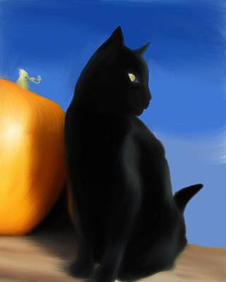 Autumn Kitty Poster by Stacy Parker