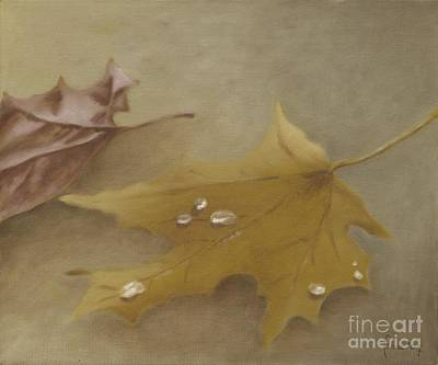 Poster featuring the painting Autumn Leaves by Annemeet Hasidi- van der Leij
