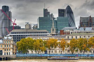 Autumn London Skyline Poster