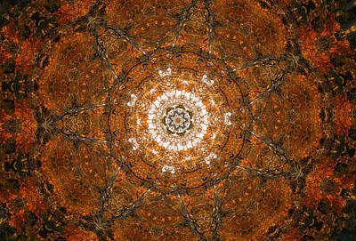 Autumn Mandala 3 Poster by Rhonda Barrett
