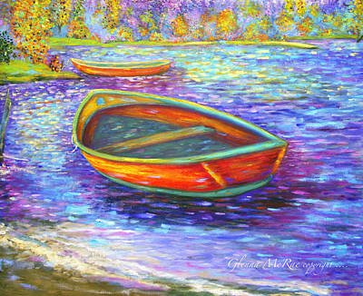 Autumn Morn On Mossy Lake Poster by Glenna McRae