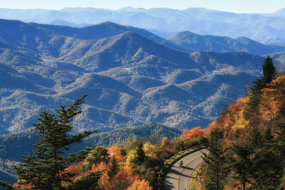 Autumn On The Blue Ridge Parkway Poster by Lynne Jenkins