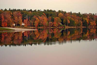 Autumn Peak Poster by David Rucker