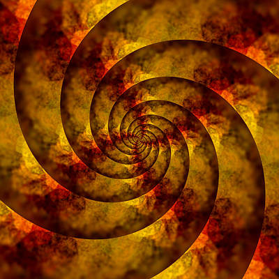Autumn Spiral Poster by Bonnie Bruno