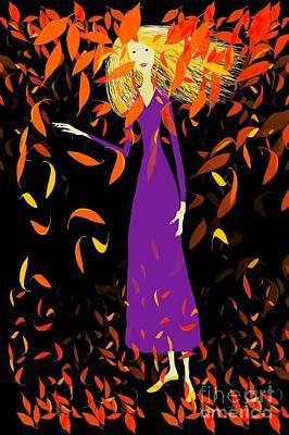 Poster featuring the digital art Autumn Spirit by Barbara Moignard