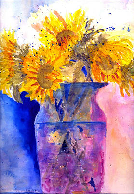 Autumn Suflowers Poster