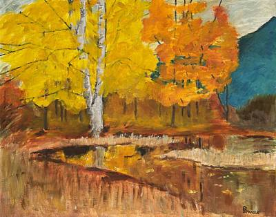 Poster featuring the painting Autumn Tranquility by Cynthia Morgan
