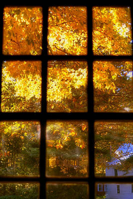 Autumn Window 2 Poster by Joann Vitali