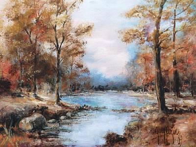 Autumn Woodlands 1969 Poster