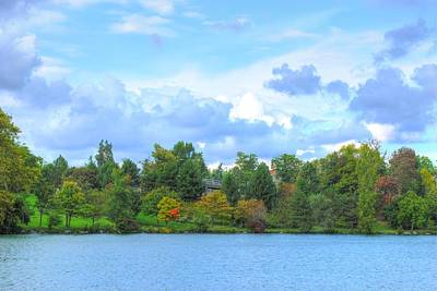 Poster featuring the photograph Autumn's Beauty At Hoyt Lake by Michael Frank Jr