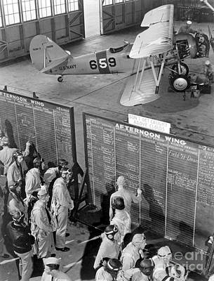 Aviation Cadets Check Flight Boards Poster by Stocktrek Images