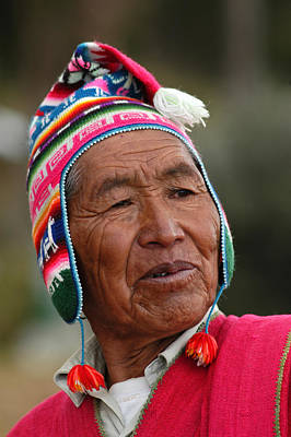 Aymara Native. Republic Of Bolivia. Poster by Eric Bauer