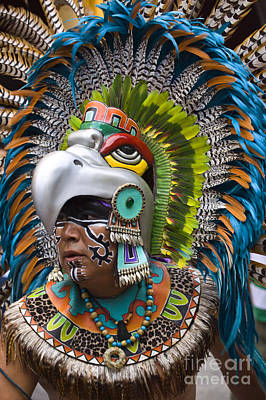 Poster featuring the photograph Aztec Eagle Dancer - Mexico by Craig Lovell