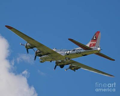 B-17g Yankee Lady Departing Poster by Tim Mulina
