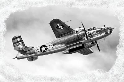 B25 In Flight Poster by Greg Fortier