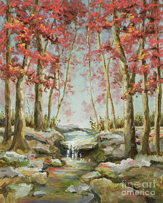 Poster featuring the painting Babbling Brook by Vic  Mastis