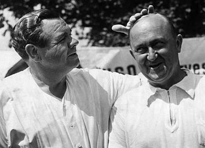 Babe Ruth, And Ty Cobb, Circa 1941. Csu Poster by Everett