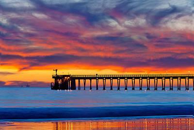 Bacara Haskells Beach And Pier Santa Barbara  Poster by Eyal Nahmias