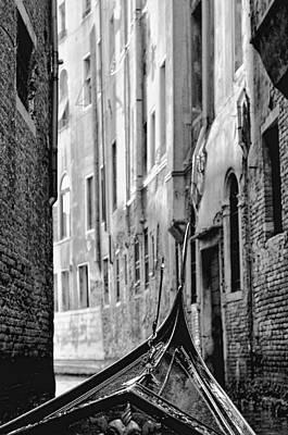 Poster featuring the photograph Back Street Gondola by Graham Hawcroft pixsellpix