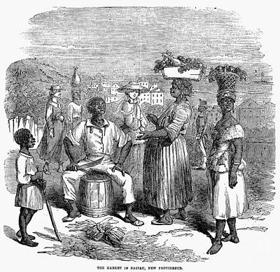 Bahamas: Market, 1856 Poster by Granger