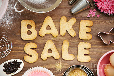 Bake Sale Cookies Poster by Ruth Black