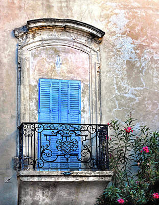 Poster featuring the photograph Balcony Provence France by Dave Mills
