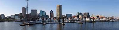 Poster featuring the photograph Balitmore Inner Harbor Panorama by Darleen Stry