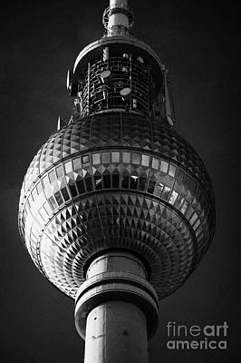 ball of the berliner fernsehturm Berlin TV tower symbol of east berlin Germany Poster by Joe Fox