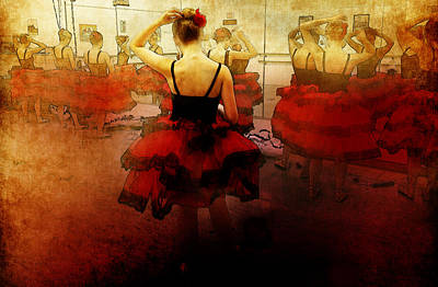 Ballet Dress Rehearsal Poster by Chris Modarelli