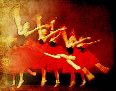 Ballet In Red Poster by Chris Modarelli