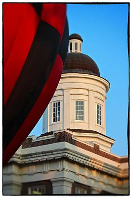 Poster featuring the photograph Balloon And Dome Of The Canton Courthouse by Jim Albritton