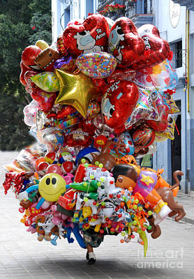Balloon Vendor Poster by Steve Goldstrom