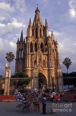 Balloon Vendors San Miguel De Allende Mexico Poster by John  Mitchell
