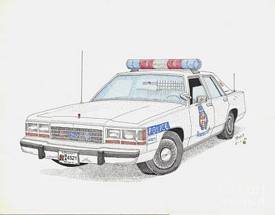 Baltimore County Police Car Poster by Calvert Koerber
