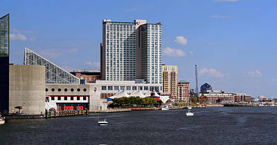 Poster featuring the photograph Baltimore Harbor by Karen Harrison