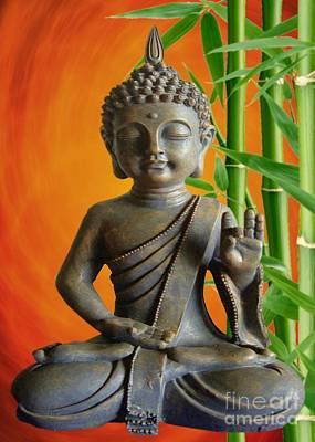 Bamboo Buddha Poster