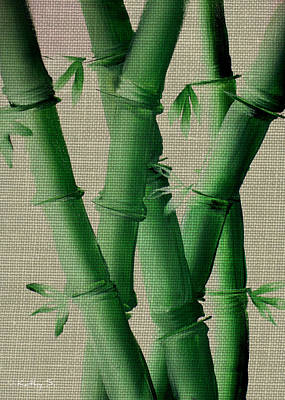 Poster featuring the painting Bamboo Cloth by Kathy Sheeran