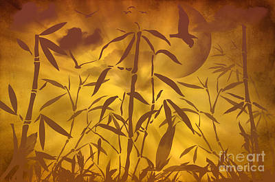 Bamboo Garden II Poster by Angela Doelling AD DESIGN Photo and PhotoArt