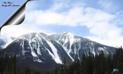 Banff Ski Runs Poster