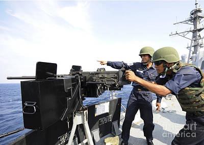 Bangladesh Navy Sailors Fire Poster by Stocktrek Images