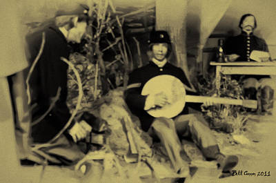 Banjo Playing Union Soldier Poster by Bill Cannon