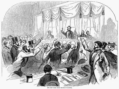 Bank Panic Of 1857 Poster by Granger