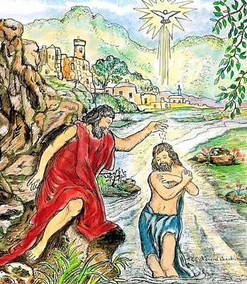 Baptism Of Jesus Poster