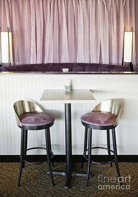 Bar Table And Chairs Poster by Andersen Ross