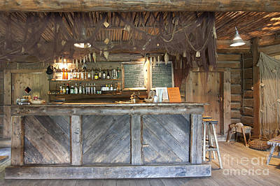 Bar With A Rustic Decor Poster