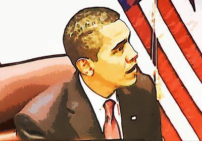 Barack Obama Poster by Susan Leggett