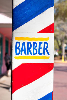 Barber Sign Poster by Tom Gowanlock